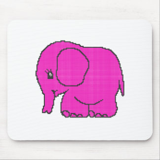 elephant_crossPINK.ai Mouse Pad