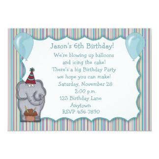 Elephant Cupcake Birthday Invitation
