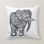 elephant cushion throw pillow