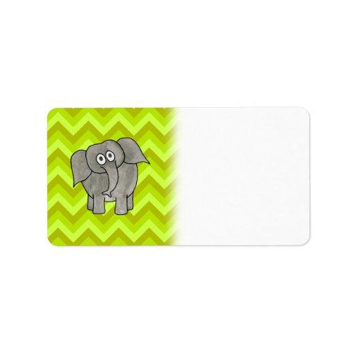 Elephant. Custom Address Labels