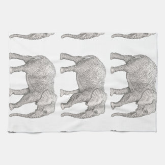 Elephant cut kitchen towel