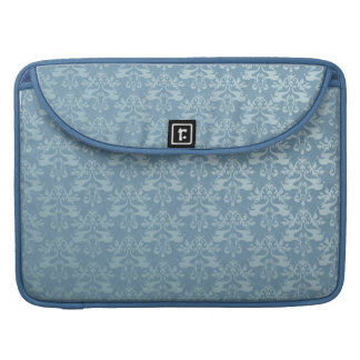 "Elephant damask blue MacBook Air 15"" Flap Case Sleeve For MacBook Pro"