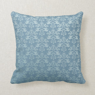 Elephant damask grey blue scatter cushion pillow