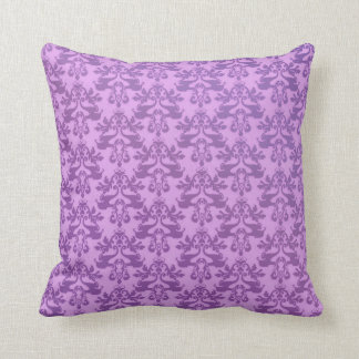 Elephant damask pale purple scatter cushion pillow