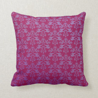 Elephant damask red purple scatter cushion pillow