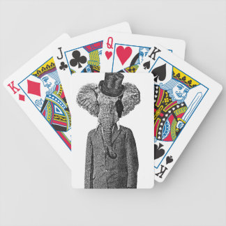 Elephant dandy bicycle playing cards