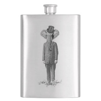 Elephant dandy hip flask