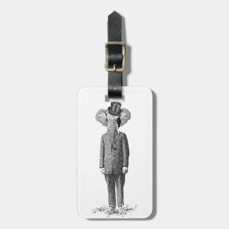 Elephant dandy luggage tag