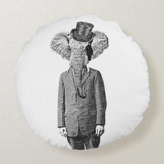 Elephant dandy round pillow