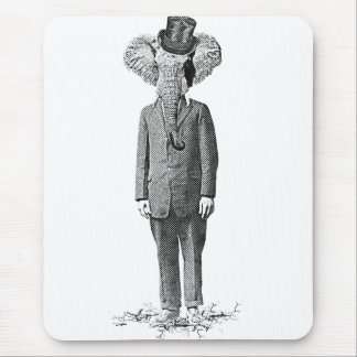 Elephant dandy mouse pads
