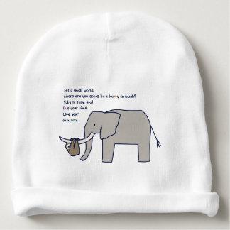 < Elephant dangling namakemono (light color Baby Beanie