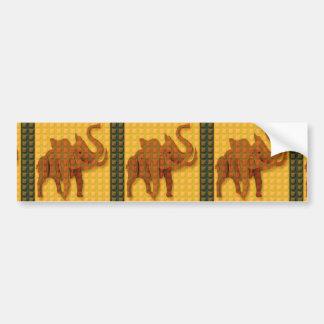 Elephant Decorative Button Art FUNNY GIFTS love al Bumper Sticker
