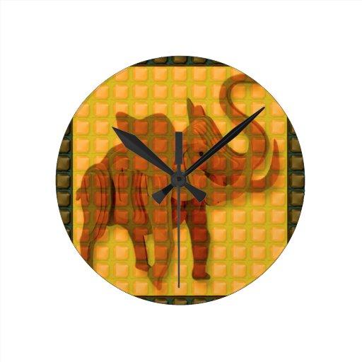 Elephant Decorative Button Art FUNNY GIFTS love al Wallclock