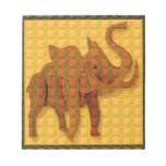 Elephant Decorative Button Art FUNNY GIFTS love al Memo Pad