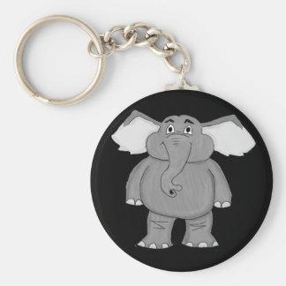 Elephant design matching jewelry set basic round button keychain