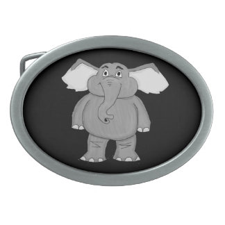 Elephant design matching jewelry set oval belt buckle