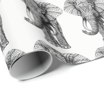 Elephant Design Wrapping Paper