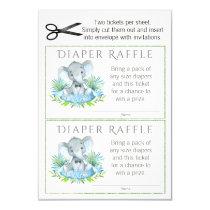 Elephant Diaper Raffle Tickets Invitation