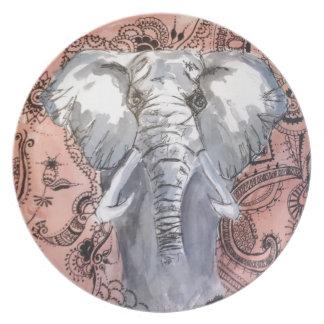 Elephant Dinner Plate