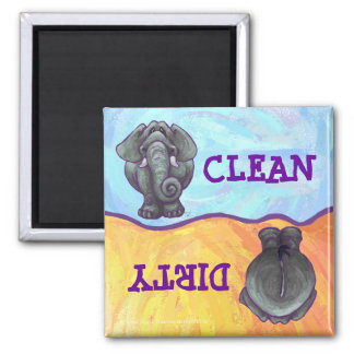 Elephant Dirty Clean Dishes Magnet
