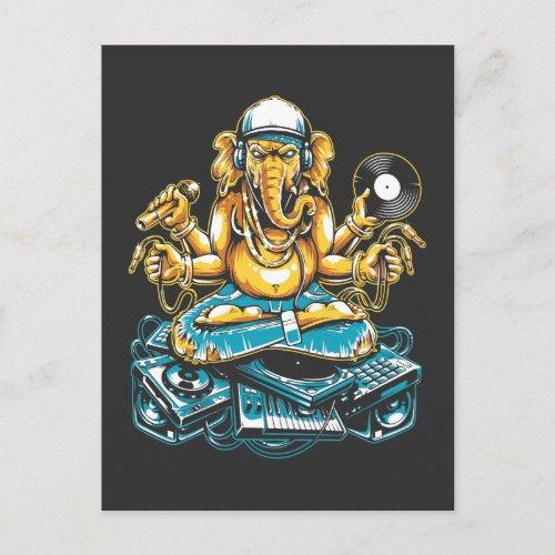 Elephant DJ Animal Electronic Music Techno Fan Postcard