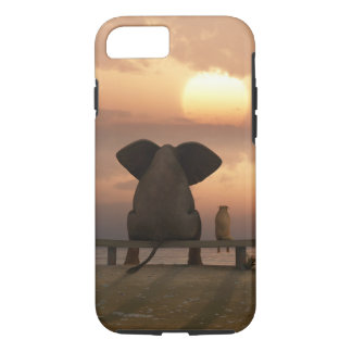 Elephant & Dog Friends Tough iPhone 7 Case
