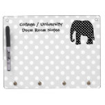 Elephant Dorm Room Notes Dry Erase Board With Keychain Holder