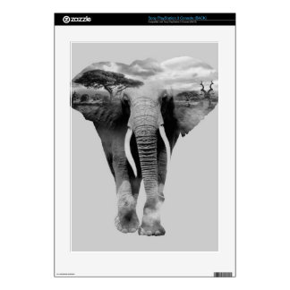 Elephant - double exposure art decal for the PS3