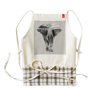 Elephant - double exposure art zazzle HEART apron