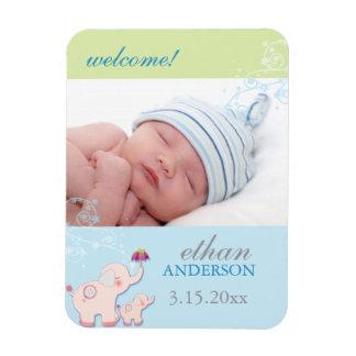 Elephant Dream Baby Boy Birth Announcement Magnet