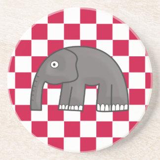 elephant drink coaster