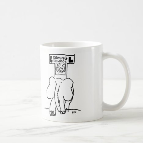 Elephant Driving School Coffee Mug