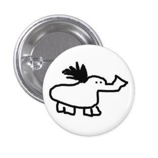 Elephant Duck Pinback Button