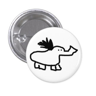 Elephant Duck Pinback Buttons