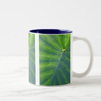 Elephant Ears - Colocasia Two-Tone Coffee Mug