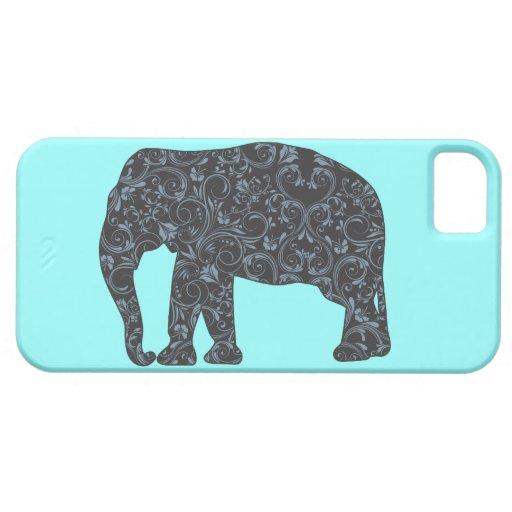 Elephant Elegant Damask Girly iPhone 5 Covers