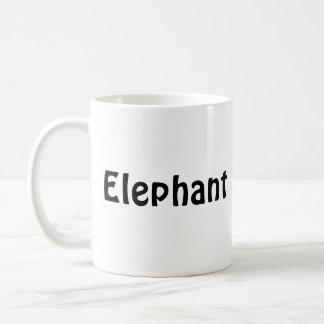 elephant, Elephant Coffee Mug