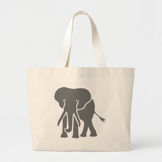 elephant elephant large tote bag