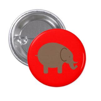Elephant Elephants Pachyderm Cute Cartoon Animal Pinback Button