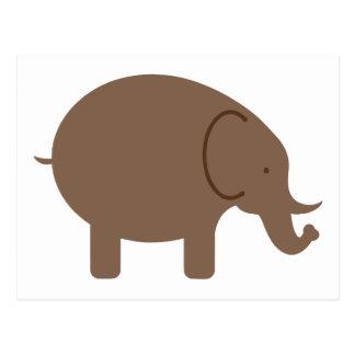 Elephant Elephants Pachyderm Cute Cartoon Animal Postcard