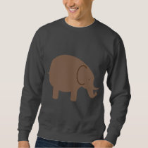 Elephant Elephants Pachyderm Cute Cartoon Animal Sweatshirt