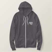 Elephant Embroidered Hoodie