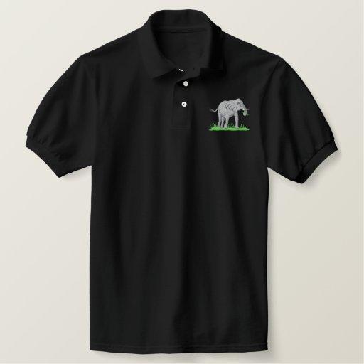 Elephant Embroidered Polo Shirt