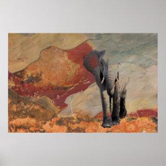 Elephant Emerging Poster