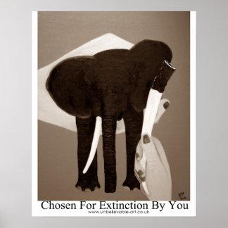 Elephant Extintion, Elephant Poaching Poster