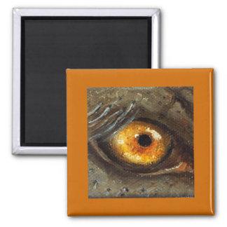 Elephant Eye 2 Inch Square Magnet