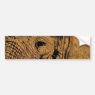 Elephant Eye Bumper Sticker