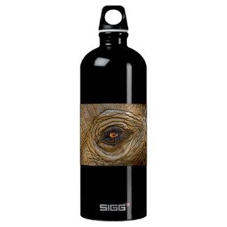 Elephant Eye Close-Up Aluminum Water Bottle
