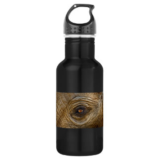Elephant Eye Close-Up Stainless Steel Water Bottle