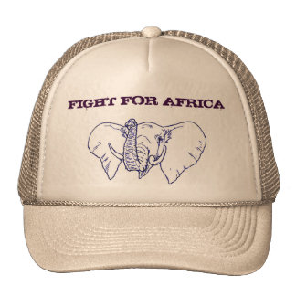Elephant Face Fight For Africa hat
